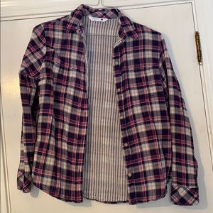 Flannel long sleeved button up